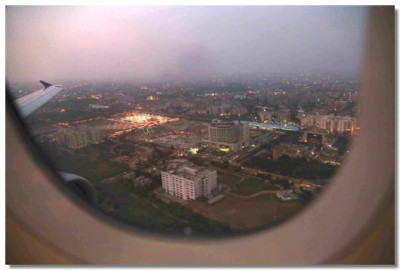 View of Ahmedabad from the plane window