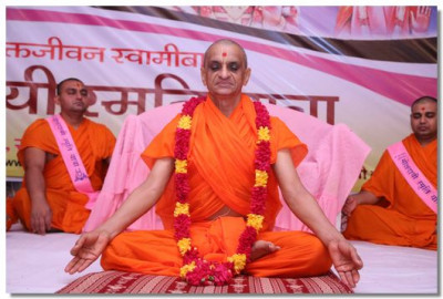 Acharya Swamishree performs dhyan