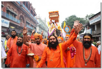 Sadhus chant the Lord's name