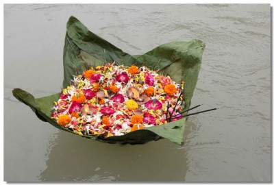 Diwas floating in River Ganga