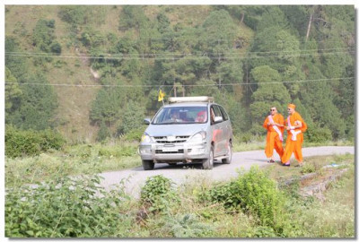 Acharya Swamishree Maharaj reaches Lake Nainital