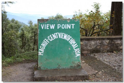 View Point – Himalayan range of mountains are seen in the background