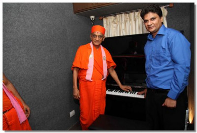 Acharya Swamishree consecrated a number of instruments