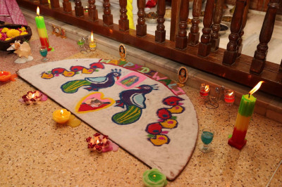 Rangoli in Ladies Mandir in Maninagar