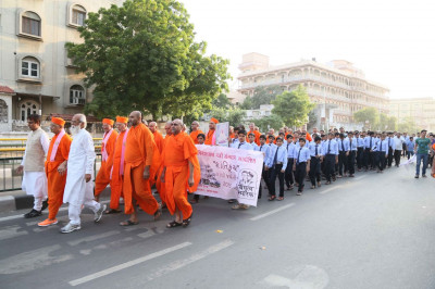 Sants and disciples take part in the Peace Walk