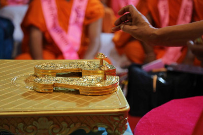 Poojan of the holy Paduka was performed