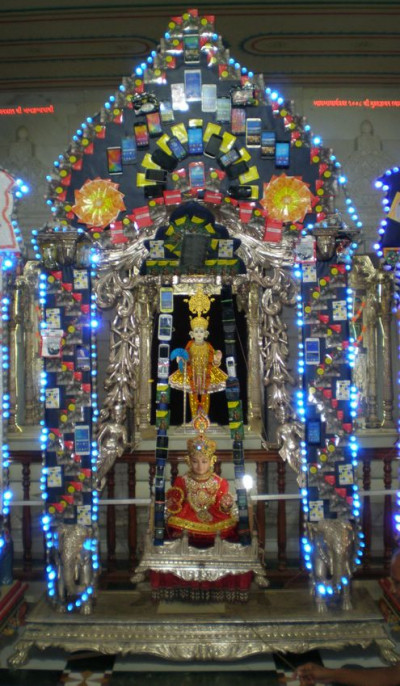 Kadi Mandir - Mobile Phones, CDs, and Polystyrene Hindola Darshan