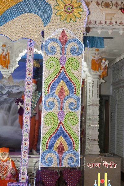 Mumbai Mandir - Decorative Beads Hindola Darshan