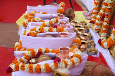 Some of the items for the havan ceremony