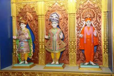 Divine darshan of the Murtis in the mandir