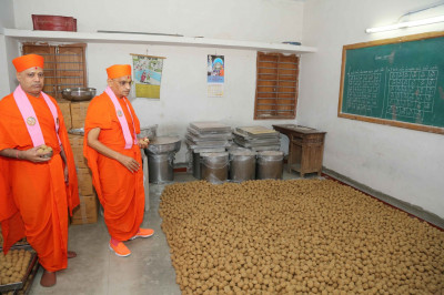 His Divine Holiness Acharya Swamishree consecrates all items to be served