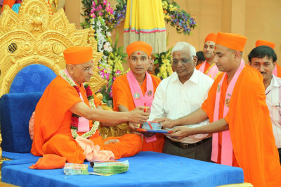 His Divine Holiness Acharya Swamishree officially releases the new DVD