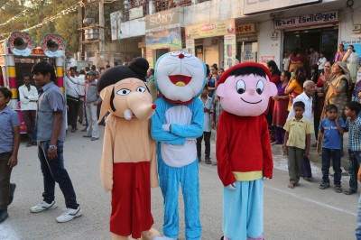 Disciples dressed as delighful cartoon characters take part