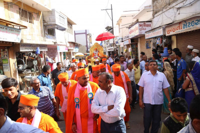 Procession in the city of Bhuj