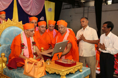 Acharya Swamishree Maharaj launches new audiobooks