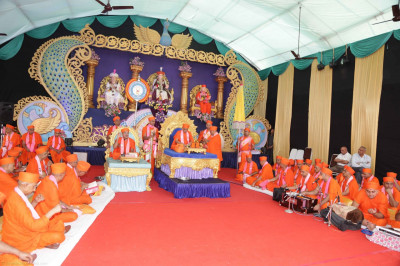 The scripture recital of Shree Abji Bapashree ni vato is completed by Sants