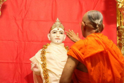 His Divine Holiness Acharya Swamishree begins the ceremony