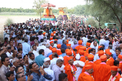 The procession started from the outskirts of Mokhasan