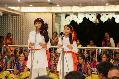 Younng disciples perform devotional songs