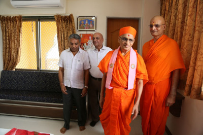 Acharya Swamishree Maharaj viewed number of different guest rooms