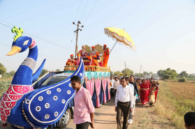 The procession continues in Ramnagar