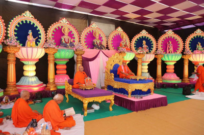 Scripture rectials in the presence of Acharya Swamishree