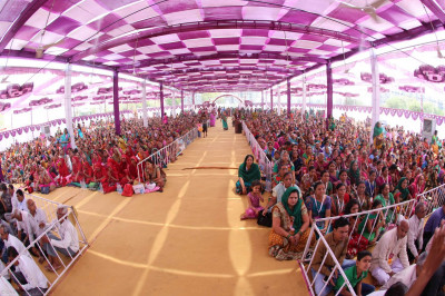 Thousands of people gathered for the final day of the mahotsav