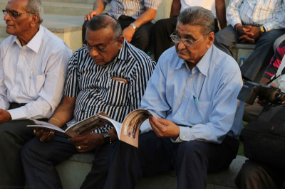 Disciples read the new historical publication