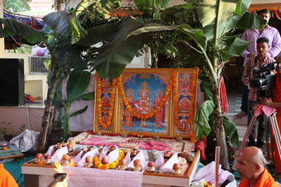 The divine Murtis to be installed in the new Mandir