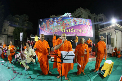 Sants continue to sing kirtans
