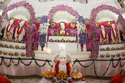 Divine darshan of the Murtis in Smruti Mandir