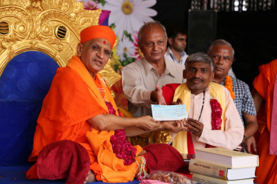 A donation of Rupees 1.5 lakh is made to Guljar Chhatra Sahyal Samiti