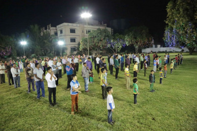Satsang Shibir event in the grounds of Surat Mandir