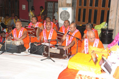 Kirtan bhakti being done by sants