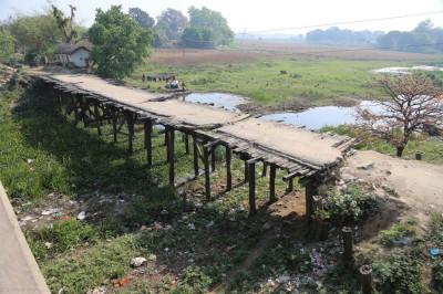 An old bridge at Makhoda Ghat