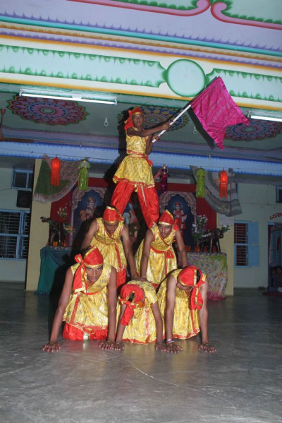A traditional dance performance by disciples