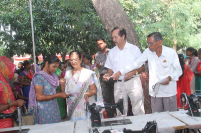 Recipients of the donated sewing machines