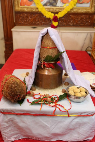 Items for the poojan ceremony