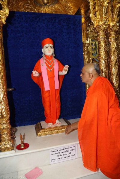 Divne darshan of His Divine Holiness Acharya Swamishree and Lord Shree Swaminarayan