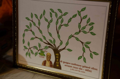 A family tree of the descendants of Nagardas Patel of Kheda; which was blessed by the manifestation of Gurudev Swamibapa, known then as Purushottambhai