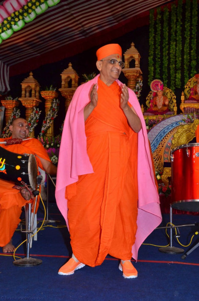His Divine Holiness Acharya Swamishree dances