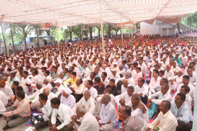 Disciples from all over Panchmahal came to the ceremony