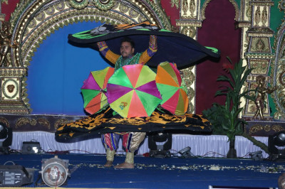 One of the dance team who was responsible for teaching the various dances to disciples performs a dance to please Lord Shree Swaminarayan