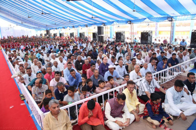 Thousands of disciples gather to enjoy the celebrations