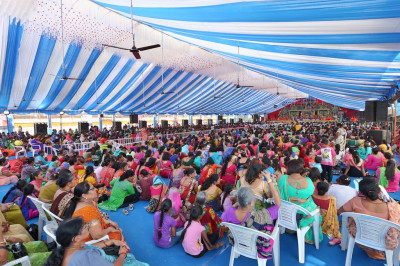 Thousands of disciples from across the world gather to enjoy the celebrations