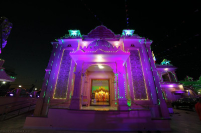 The entrance to Shree Swaminarayan Mandir Bharasar