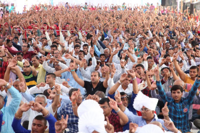Thousands of disciples from around the world enjoy the celebrations