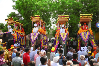All four elephants taking part in the grand procession