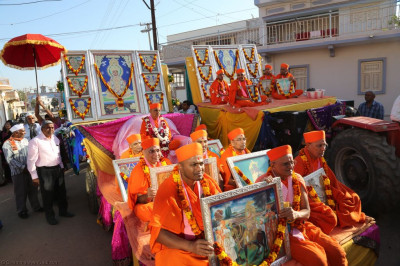 The procession takes place through the Bharasar village streets