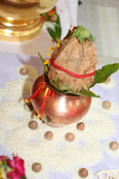 The poojan ceremony items